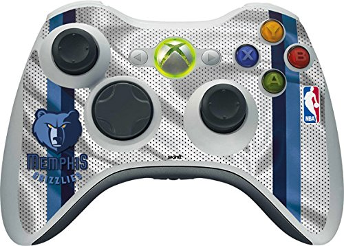 NBA - Memphis Grizzlies - Memphis Grizzlies Home Jersey - Skin for 1 Microsoft Xbox 360 Wireless Controller by Skinit