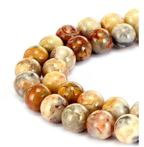 Crazy Lace Agate Round Beads - 7