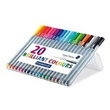 Staedtler Triplus Fineliner Pen Fine Pen Point Type - 0.3 mm Pen Point Size - Assorted Ink - 20 / Pack(STD334SB20BK)