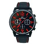Men Watch,SMTSMT Sport Cool Quartz Hours Wrist Analog Watch--Red