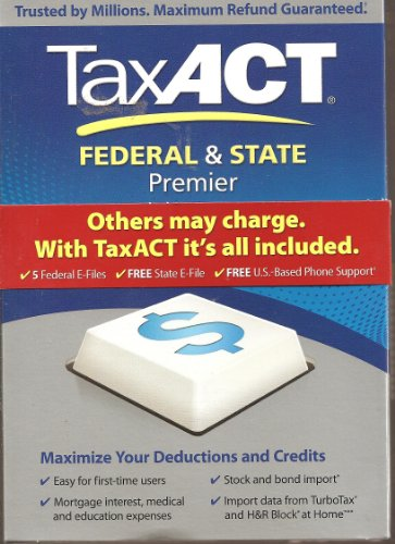 Tax Act Federal   State Premier 2011 Tax Software