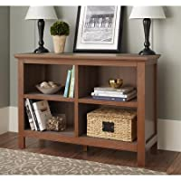 10 Spring Street Burlington Collection Horizontal Bookcase, Walnut