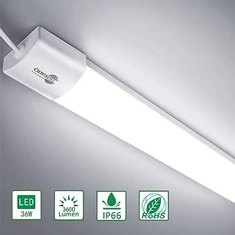 Öuesen LED Feuchtraumleuchte 36W 5000K, Deckenleuchte Bad LED 120CM ...