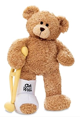 Gund Break A Leg Jr. 8.5 inch Get Well Teddy Bear with a Cast