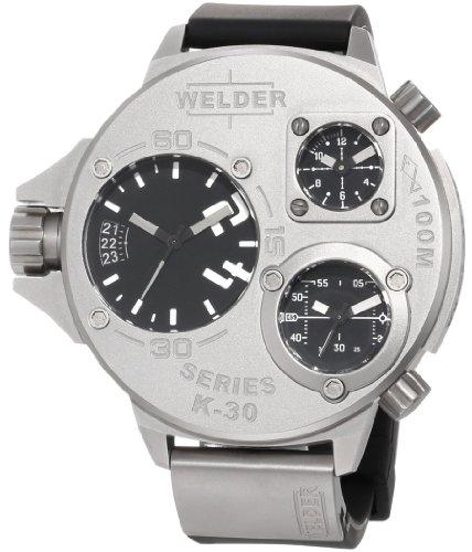 Welder by U-Boat K30 Oversize Triple Time Zone Stainless Steel Mens Sport Watch K30-9000