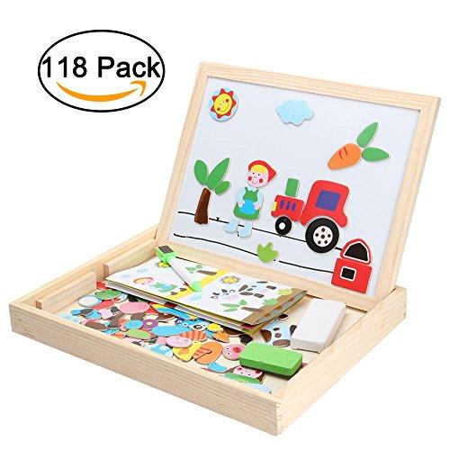 6b7f56d892 Lavagna magnetica per bambinirightwell 118 pezzi puzzle magnetico di ...