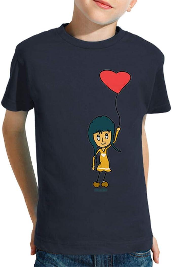 latostadora - Camiseta Corazon para Nino y Nina Azul Marino XL: hello: Amazon.es: Ropa y accesorios