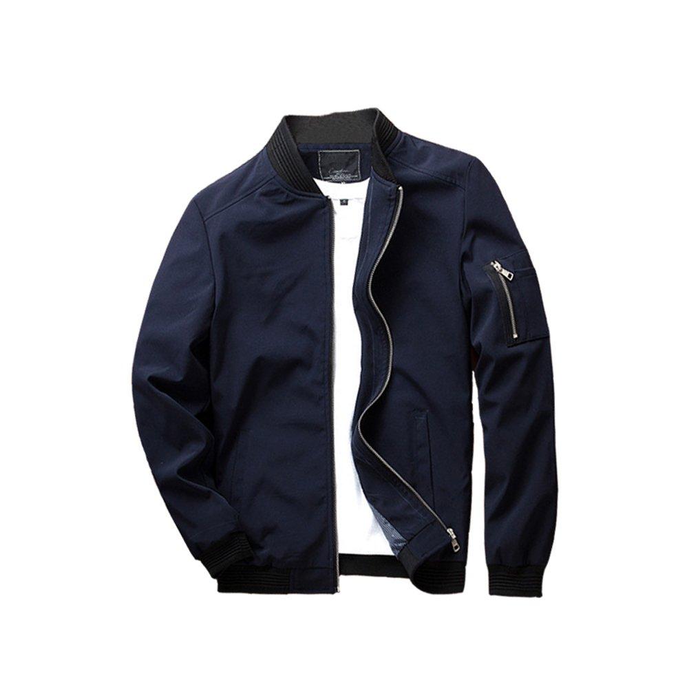 URBANFIND Men's Slim Fit Lightweight Sportswear Jacket Casual Bomber Jacket US XS Blue