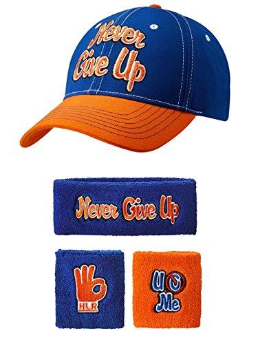John Cena Respect Earn It Baseball Hat Headband Wristband Set -