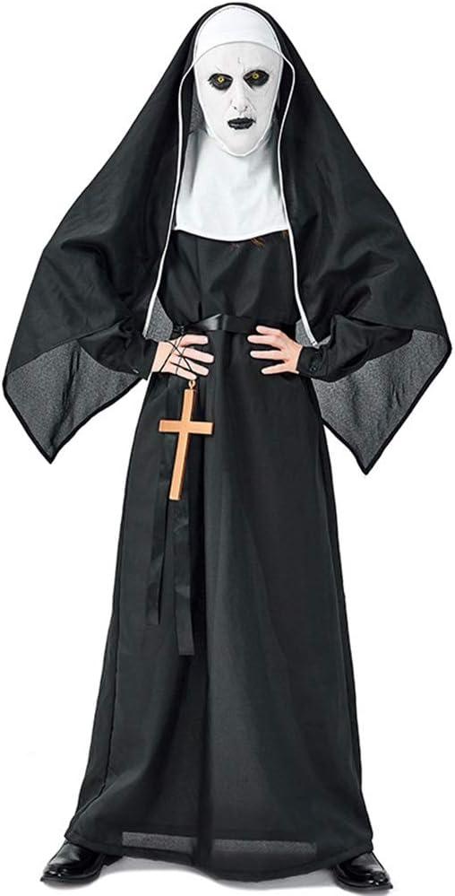 YXLR Disfraz Horror Monasterio Fantasma Diablo Monja Disfraz ...