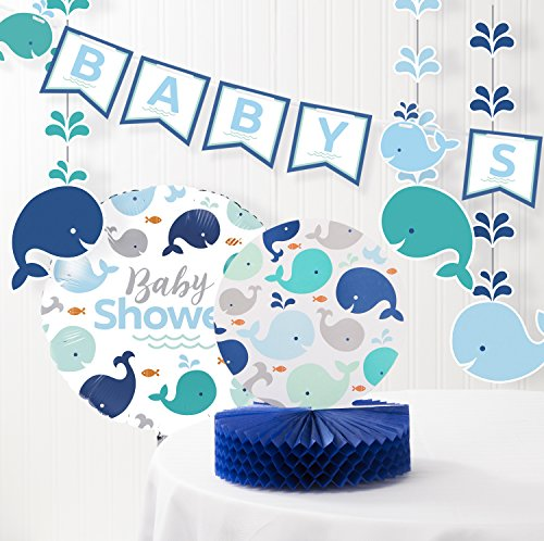 Blue Baby Whale Baby Shower Decorations Kit (Whale Decorations)