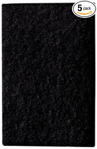 Mercer Abrasives 4202BL-5 Floor Pads For Squar Buff 12-Inch by 24-Inch Black 5-Pack