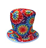 Hayes Rainbow Psychedelic Hippie Tie Dye Costume Top Hat - Adults - One Size 11' H
