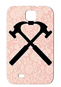 Crossed Hammers Black Firefighter Careers Professions Firefighters Firefighter Anti-drop For Sumsang Galaxy S4 Cover Case