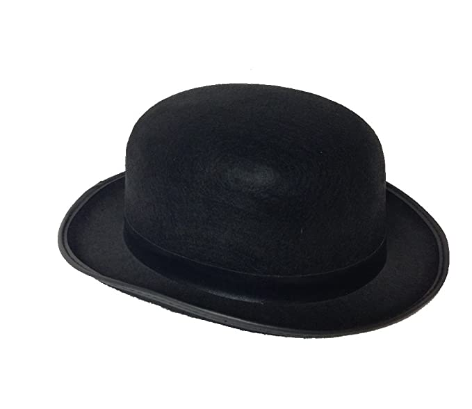 Gangster Costumes & Outfits | Women's and Men's Derby Bowler Felt Hat Large Size $8.60 AT vintagedancer.com