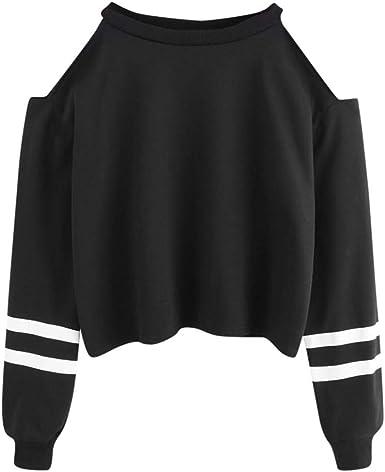 Btruely Herren_camisetas Moda Sudaderas con Capucha, Camisa para Mujer Camiseta Blusa Deportiva Sudadera Fuera del Hombro Tops De Deportivo Basico para Mujeres Chica: Amazon.es: Ropa y accesorios