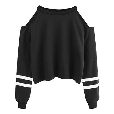 Btruely Herren_camisetas Moda Sudaderas con Capucha, Camisa para Mujer Camiseta Blusa Deportiva Sudadera Fuera del Hombro Tops De Deportivo Basico para ...