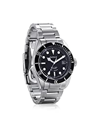WhatsWatch Parnis black dial Sapphire glass Miyota automatic 10atm diving mens watch PA-057