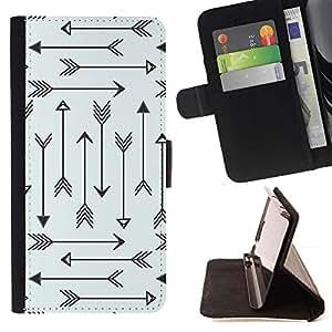 Momo Phone Case / Flip Funda de Cuero Case Cover - Modelo tribal Archery Amor minimalista - Samsung Galaxy S6 Active G890A