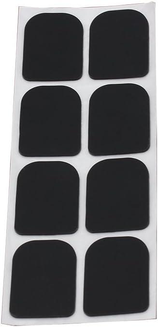 ammoon Boccaglio Sax 0,3 mm 8pcs Nero Gomma Sassofono Soprano Clarinetto Patches