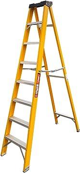 Keinode - Escalera de 8 peldaños para electricistas, resistente, EN131, fibra de vidrio de 300 V, seguridad: Amazon.es: Bricolaje y herramientas
