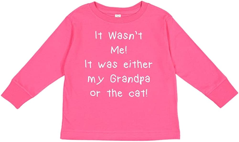 It was Either My Papaw Or The Cat Toddler//Kids Long Sleeve T-Shirt It Wasnt Me