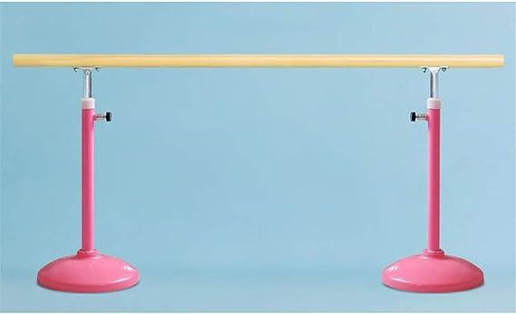 Barra de Ballet Barra De Deportes De Bar, Bar Musical Autoportante, Móvil Fitness Gimnasia De Estiramiento Barre Adulto Del Hogar De Niños, Ajustable, Plegable Barras de Estiramiento (Color : Pink) :