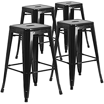 Amazon Com Furmax 30 High Metal Stools Backless Indoor