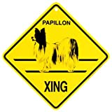 KC Creations Papillon Xing Caution Crossing Sign Dog Gift