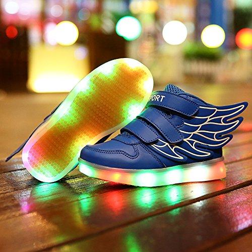Mojoton - Zapatillas de skateboarding de Material Sintético para niño Azul