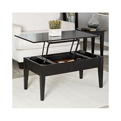 Lift Top Occasional Cocktail Table with Storage and 2 End Tables in (Parquet Occasional Table)