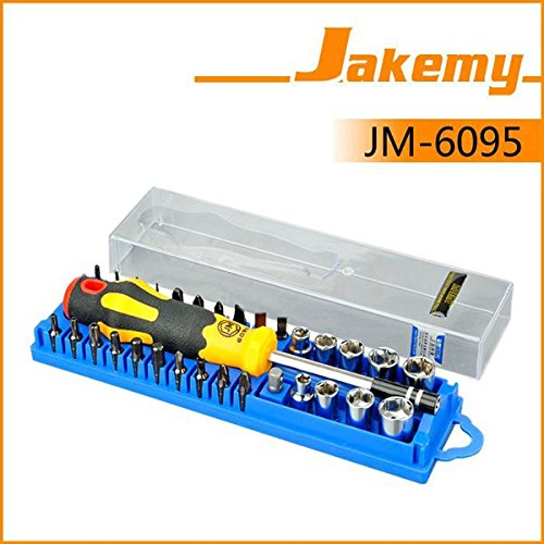 JM-6095 33 in 1 Repair Torx Screw Driver Screwdrivers Kit Set Precision Telecom Maintenance Tools (Gamecube Blank Disc)