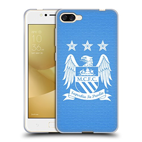 Official Manchester City Man City FC Sky Blue Null Cube Crest Pixels Soft Gel Case for Zenfone 4 Max ZC520KL