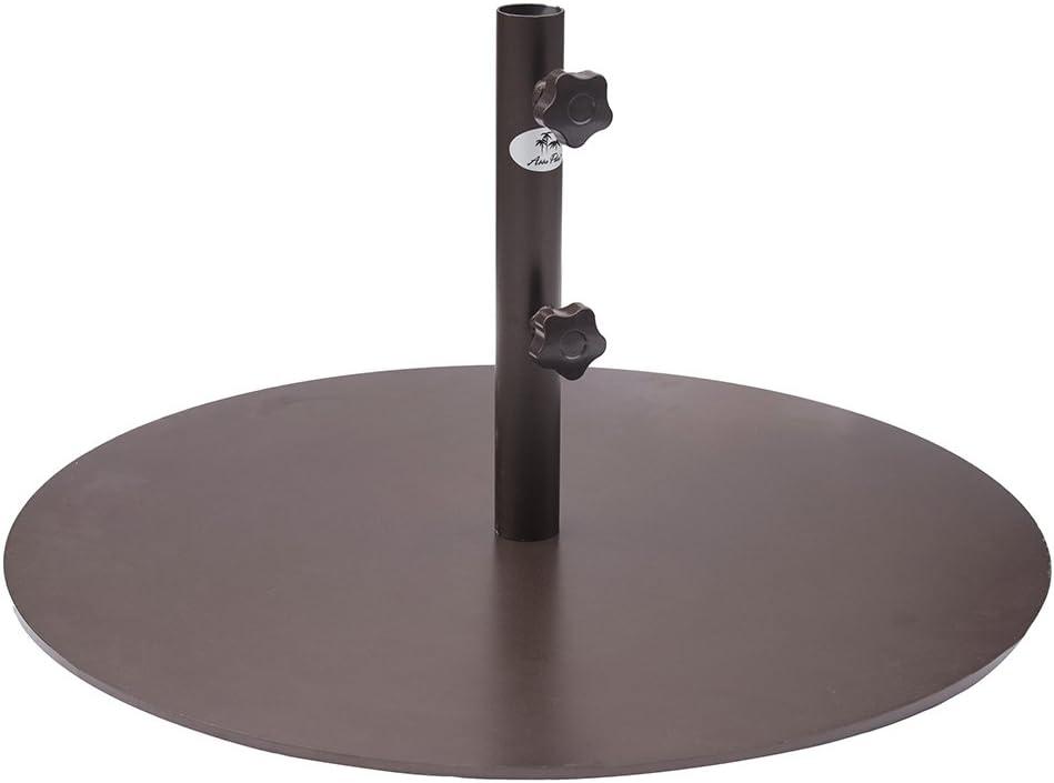 Abba Patio Round Steel 28 inch Diameter Market Patio Umbrella Base, 55 lbs, Bronze