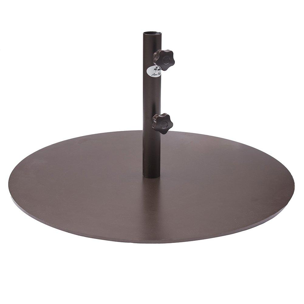 Abba Patio Round Steel 28 inch Diameter Market Patio Umbrella Base, 55 lbs, Bronze by Abba Patio