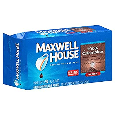 Maxwell House Colombian Blend Ground Coffee, Medium Roast, 10.5 Ounce Vacuum Bag (Pack of 3)