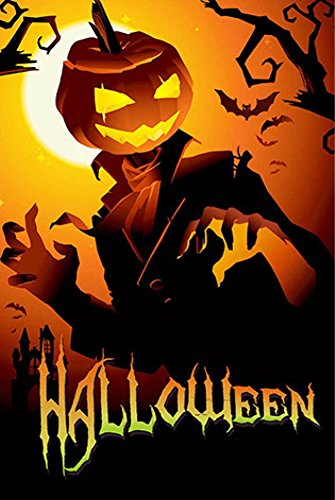 Halloween Garden Flag (Jack O Lantern Man) double sided reads correctly on both sides 12 x 18 (Halloween Garden)