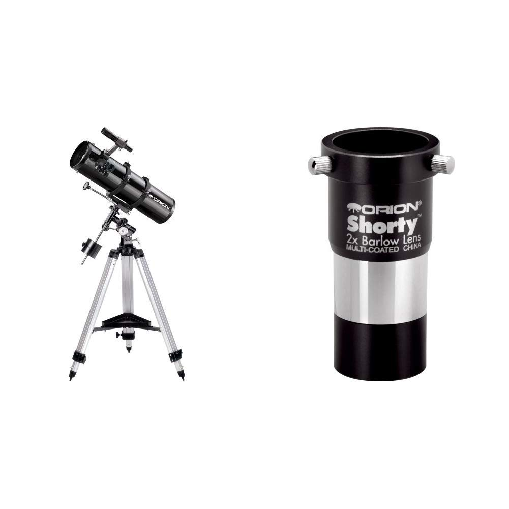 Orion 09007 SpaceProbe 130ST Equatorial Reflector Telescope (Black) Bundle with Orion 08711 Shorty 1.25-Inch 2X Barlow Lens (Black) by Orion
