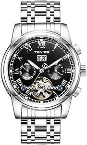 تيفايس ساعة كاجوال انالوج للرجال ميكانيكية بسوار من ستانلس ستيل -9005