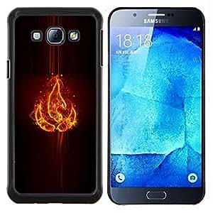 Elemento Fuego- Metal de aluminio y de plástico duro Caja del teléfono - Negro - Samsung Galaxy A8 / SM-A800