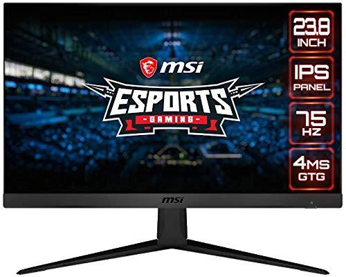 MSI Optix G241V Esports Gaming IPS Monitor – 23.8 Inch, 16:9 Full HD (1920 x 1080), IPS, 75Hz, 4ms, FreeSync…