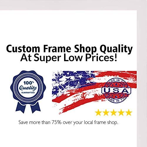 Poster Palooza 12x16 Lacquer White Wood Shadow Box Frame - UV Acrylic, Acid Free Backing, Hanging Hardware Included!