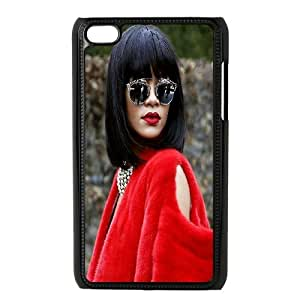 Ipod Touch 4 Case Rihanna at Paris Fashion Week Protective for Girls, Ipod Touch 4 Cases Cute Tyquin, [Black]