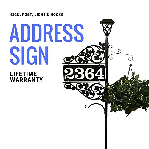 Reflective Address Sign - Driveway Marker Double Sided Address Sign with 60