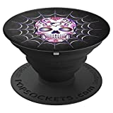 Sugar Skull Pop Socket Creepy Scary Spiderweb Halloween - PopSockets Grip and Stand for Phones and Tablets