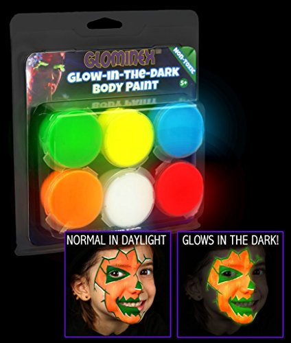 [Glominex AR698 Glow in the Dark Body Paint Clamshell Pack - Assorted] (Body Central Halloween Costumes)