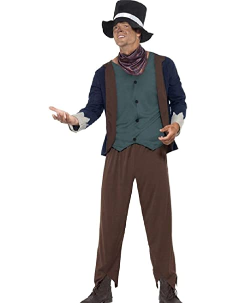Amazon Com Adult S Mens Victorian Era Poor Man Beggar Costume Clothing