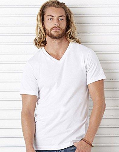 Canvas Delancey Short Sleeve V-Neck T-Shirt. 3005 - XX-Large - White Bella Short Sleeve T-shirt