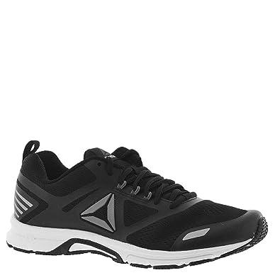 Reebok Men s AHARY Runner Sneaker Black White Pewter 9 ... 60aa1cc5e