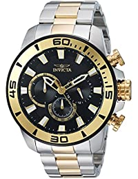 Men's 'Pro Diver' Quartz Stainless Steel Casual Watch, Color:Two Tone (Model: 22588)